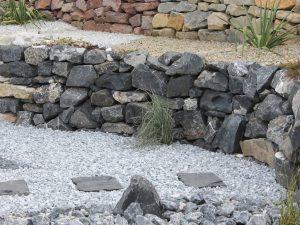 Alpenstein Trockenmauer