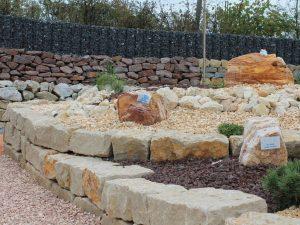 Brunnenanlage im Mustergarten