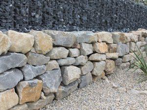 Mauer Kalkstein Grau -Gelb