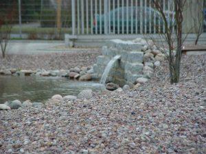 Steingarten mit Rheinkies