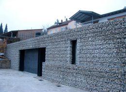 Steinfassade Gabione-Hilden
