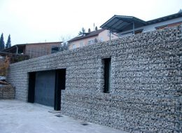 Steinfassade Gabione-Lebach