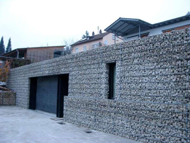 gabionen steinfassade steinakzente. Black Bedroom Furniture Sets. Home Design Ideas