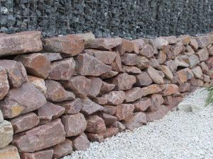 Quarzit Rot Mauer