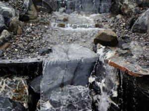 Wasserfall mit Donaukies