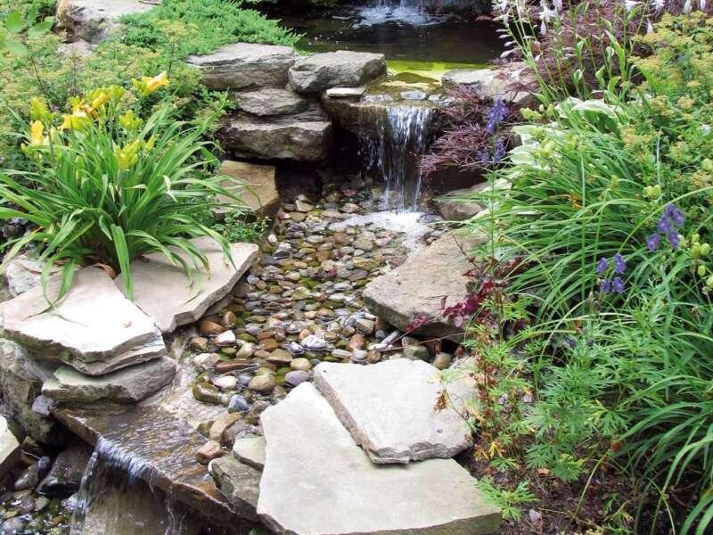 Rheinkies steinakzente for Gartengestaltung 20 qm