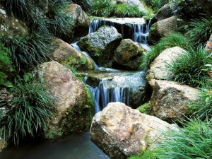 Wasserfall mit Wacken