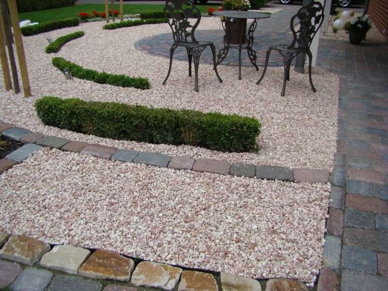 Tiroler splitt 16 32 mm steinakzente - Gartengestaltung mit splitt ...