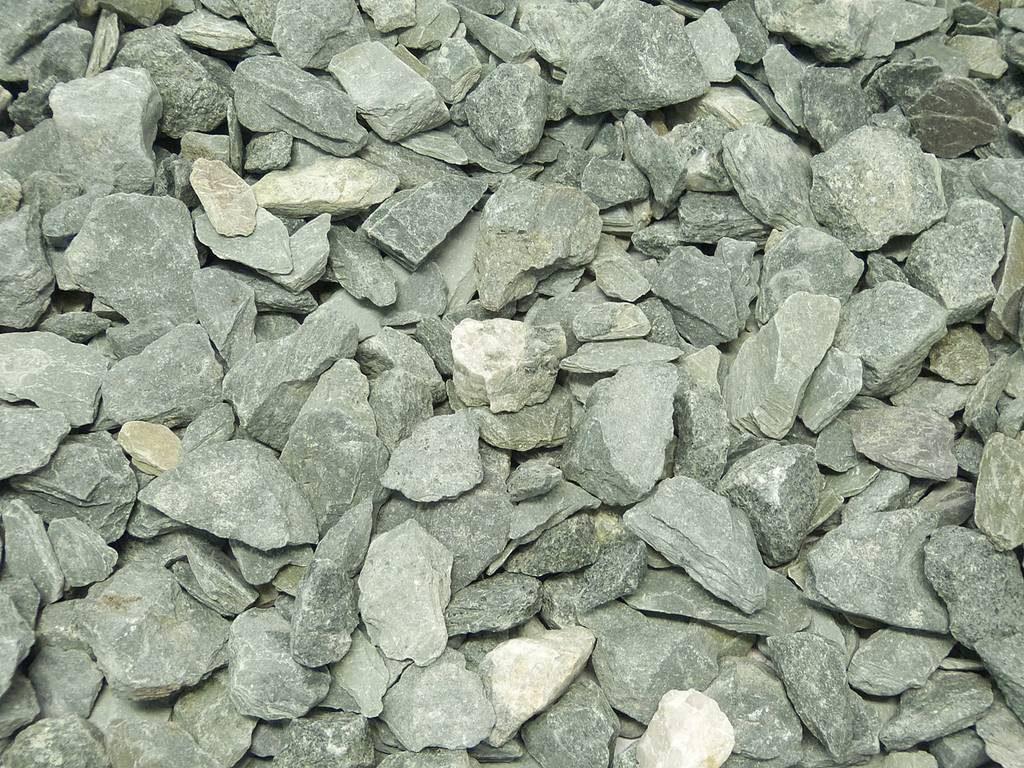 Canadian slate lila steinakzente for Schwarze steine deko