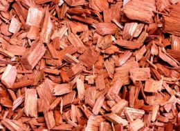 Holzhackschnitzel rot-Püttlingen