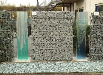 Glaskunst Gabionenzaun