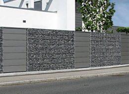 Gabionenzaun L (mit Fußplatte)-Neustadt/Süd