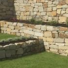 Sandsteinmauer Gartenbau Grau
