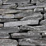 Black Slate Mauersteine