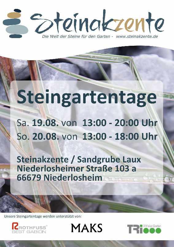 Steingartentage in Niederlosheim 19. & 20.08.2017