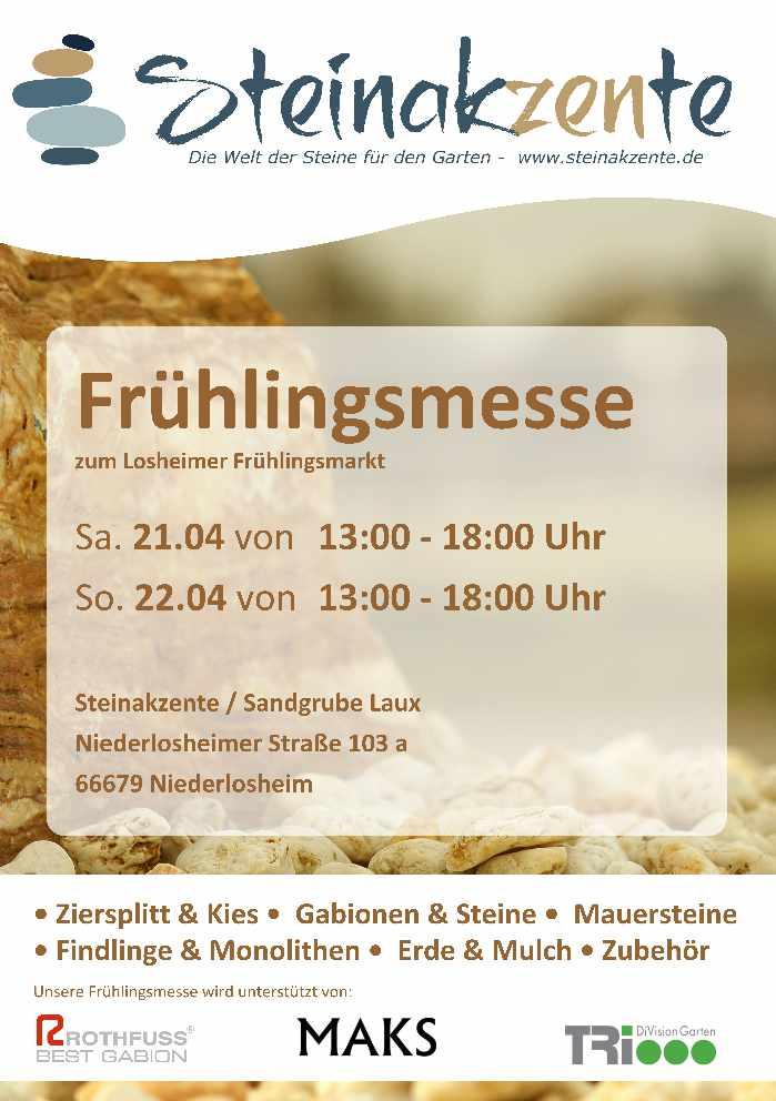 Frühlingsmesse in Niederlosheim 21. und 22.04.2018