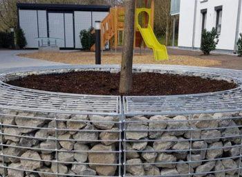 Baumeinfassung Gabionen-Sonderanfertigung