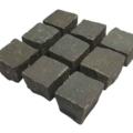 Pflaster Basalt grau10x10x8