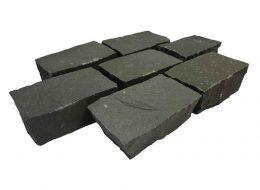 Pflaster Basalt grau 20x12x8