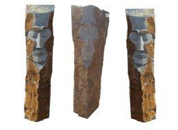 """Basalt Stele """"Face""""-Euskirchen"""